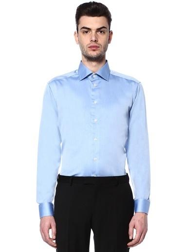 Eton Uzun Kollu Klasik Gömlek Mavi
